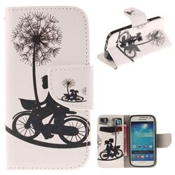 Cycling Dandelion PU Leather Wallet Case for Samsung Galaxy S4 Mini i9190