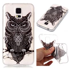 Staring Owl Super Clear Soft TPU Back Cover for Samsung Galaxy S5 G900