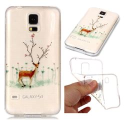 Branches Elk Super Clear Soft TPU Back Cover for Samsung Galaxy S5 G900