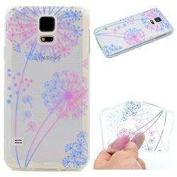 Rainbow Dandelion Super Clear Soft TPU Back Cover for Samsung Galaxy S5 G900