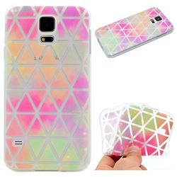 Rainbow Triangle Super Clear Soft TPU Back Cover for Samsung Galaxy S5 G900