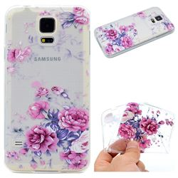 Peony Super Clear Soft TPU Back Cover for Samsung Galaxy S5 G900