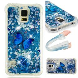 Flower Butterfly Dynamic Liquid Glitter Sand Quicksand Star TPU Case for Samsung Galaxy S5 G900