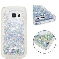 Dynamic Liquid Glitter Quicksand Sequins TPU Phone Case for Samsung Galaxy S5 G900 - Silver