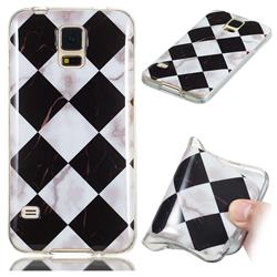 Black and White Matching Soft TPU Marble Pattern Phone Case for Samsung Galaxy S5 G900