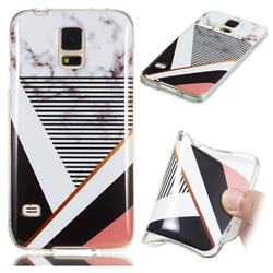 Pinstripe Soft TPU Marble Pattern Phone Case for Samsung Galaxy S5 G900