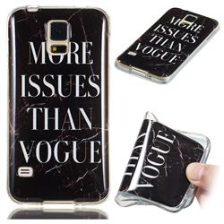 Stylish Black Soft TPU Marble Pattern Phone Case for Samsung Galaxy S5 G900