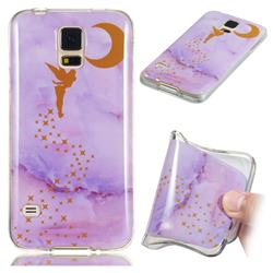 Elf Purple Soft TPU Marble Pattern Phone Case for Samsung Galaxy S5 G900
