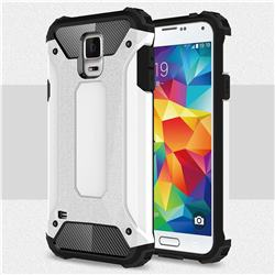 King Kong Armor Premium Shockproof Dual Layer Rugged Hard Cover for Samsung Galaxy S5 G900 - White