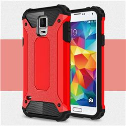 King Kong Armor Premium Shockproof Dual Layer Rugged Hard Cover for Samsung Galaxy S5 G900 - Big Red