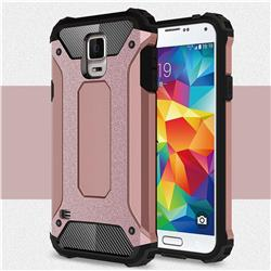 King Kong Armor Premium Shockproof Dual Layer Rugged Hard Cover for Samsung Galaxy S5 G900 - Rose Gold