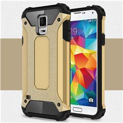 King Kong Armor Premium Shockproof Dual Layer Rugged Hard Cover for Samsung Galaxy S5 G900 - Champagne Gold