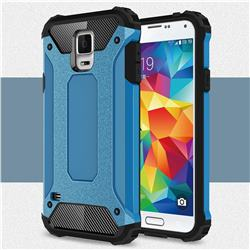 King Kong Armor Premium Shockproof Dual Layer Rugged Hard Cover for Samsung Galaxy S5 G900 - Sky Blue