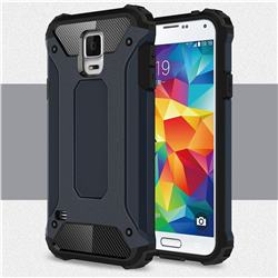 King Kong Armor Premium Shockproof Dual Layer Rugged Hard Cover for Samsung Galaxy S5 G900 - Navy