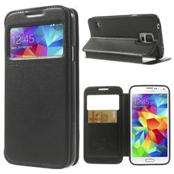 Roar Korea Noble View Leather Flip Cover for Samsung Galaxy S5 G900 - Black
