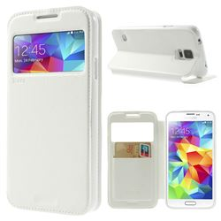 Roar Korea Noble View Leather Flip Cover for Samsung Galaxy S5 G900 - White