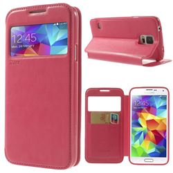 Roar Korea Noble View Leather Flip Cover for Samsung Galaxy S5 G900 - Rose