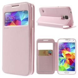 Roar Korea Noble View Leather Flip Cover for Samsung Galaxy S5 G900 - Pink