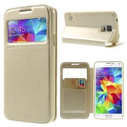 Roar Korea Noble View Leather Flip Cover for Samsung Galaxy S5 G900 - Champagne