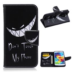 Crooked Grin Leather Wallet Case for Samsung Galaxy S5 G900