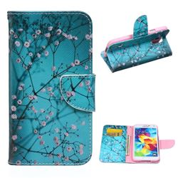 Blue Plum Leather Wallet Case for Samsung Galaxy S5 G900