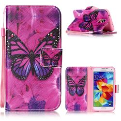 Black Butterfly Leather Wallet Phone Case for Samsung Galaxy S5