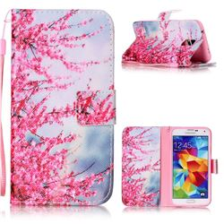 Plum Flower Leather Wallet Phone Case for Samsung Galaxy S5