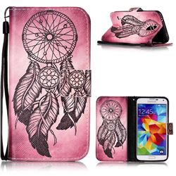 Wind Chimes Leather Wallet Phone Case for Samsung Galaxy S5