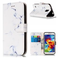 Soft White Marble PU Leather Wallet Case for Samsung Galaxy S5