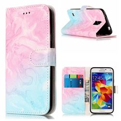 Pink Green Marble PU Leather Wallet Case for Samsung Galaxy S5