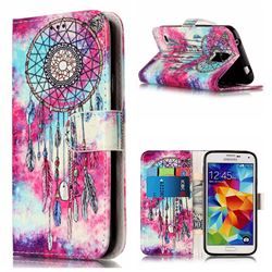 Butterfly Chimes PU Leather Wallet Case for Samsung Galaxy S5