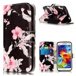 Azalea Flower PU Leather Wallet Case for Samsung Galaxy S5