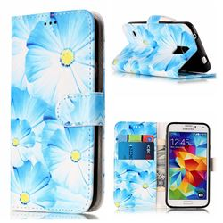 Orchid Flower PU Leather Wallet Case for Samsung Galaxy S5