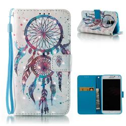 ColorDrops Wind Chimes 3D Painted Leather Wallet Case for Samsung Galaxy S5 G900