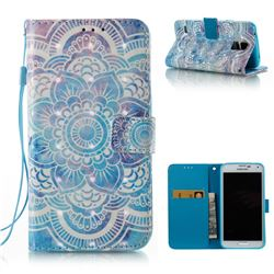 Mandala 3D Painted Leather Wallet Case for Samsung Galaxy S5 G900