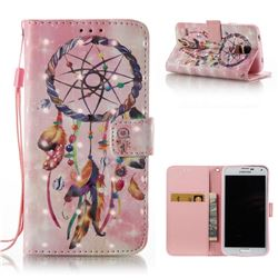 Bead Wind Chimes 3D Painted Leather Wallet Case for Samsung Galaxy S5 G900