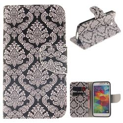 Totem Flowers PU Leather Wallet Case for Samsung Galaxy S5 G900