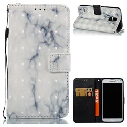 White Gray Marble 3D Painted Leather Wallet Case for Samsung Galaxy S5 G900