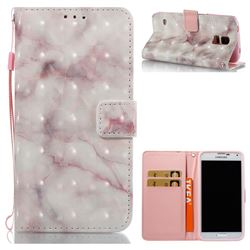 Beige Marble 3D Painted Leather Wallet Case for Samsung Galaxy S5 G900