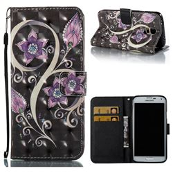 Peacock Flower 3D Painted Leather Wallet Case for Samsung Galaxy S5 G900