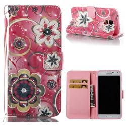 Tulip Flower 3D Painted Leather Wallet Case for Samsung Galaxy S5 G900