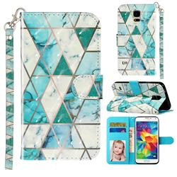 Stitching Marble 3D Leather Phone Holster Wallet Case for Samsung Galaxy S5 G900