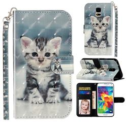 Kitten Cat 3D Leather Phone Holster Wallet Case for Samsung Galaxy S5 G900