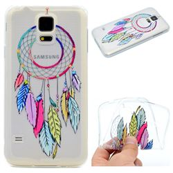 Rainbow Campanula Super Clear Soft TPU Back Cover for Samsung Galaxy S5 Mini G800
