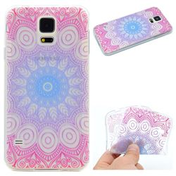 Colored Mandala Super Clear Soft TPU Back Cover for Samsung Galaxy S5 Mini G800