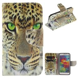 Yellow Tiger PU Leather Wallet Case for Samsung Galaxy S5 Mini G800