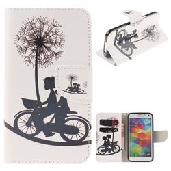 Cycling Dandelion PU Leather Wallet Case for Samsung Galaxy S5 Mini G800