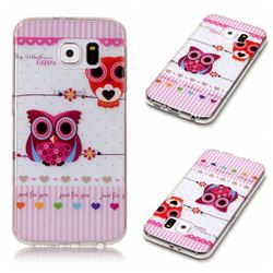 Owls Flower Super Clear Soft TPU Back Cover for Samsung Galaxy S6 G920