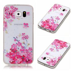 Plum Blossom Bloom Super Clear Soft TPU Back Cover for Samsung Galaxy S6 G920