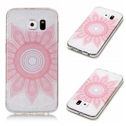 Pink Mandala Super Clear Soft TPU Back Cover for Samsung Galaxy S6 G920